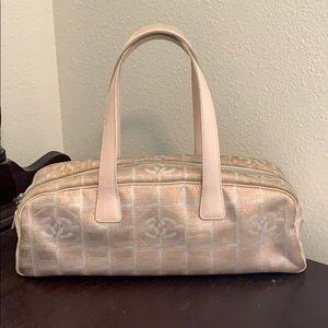 Authentic Chanel Nylon Pink Metallic Tote Bag!